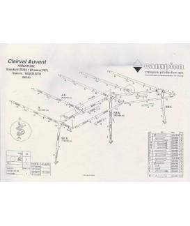 ARMATURE AUVENT CLAIRVAL PRENOX A0 à F5 Loisirs Caravaning