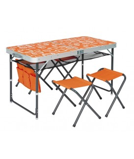 TABLE VALISE + 4 TABOURETS...