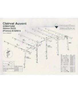 ARMATURE AUVENT CLAIRVAL PRENOX L11 à N13 Loisirs Caravaning