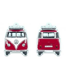 DESODORISANT DESIGN IMPRIME 2 COTES COMBI VW T1 ROUGE Loisirs Caravaning