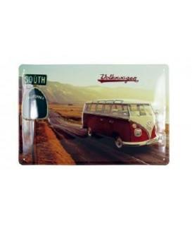 PLAQUE METAL DECORATIVE VW MOTIF CALIFORNIE Loisirs Caravaning
